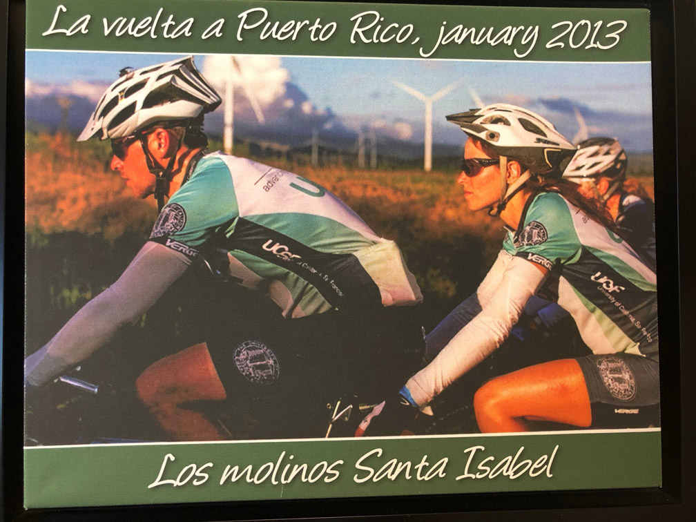 Anna and her husband tandem riding in La Vuelta Puerto Rico